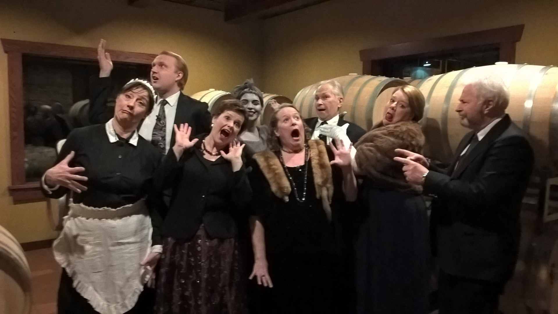 """Blithe Spirit"" Cannon Falls Community Theater Cannon River Winery, Cannon Falls, 2017"